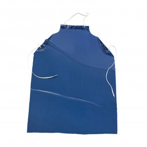 West Chester UUB-50 Apron Blue Vinyl 6 Mil with Raw Edge 35 inch x 50 inch