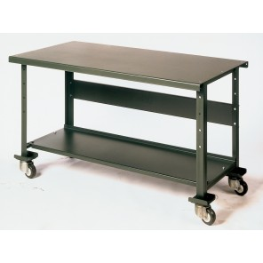 MOBILE WORK BENCH, Casters: 2 Rigid, 2 Swivel, Wheel: Steel