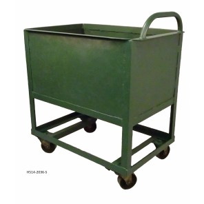 "CLOSED TRUCK - 514, Caster Type: All Swivel Heavy Duty 5"" Steel, Deck Size W x L: 24 x 48"""