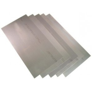 Precision Brand® 16947 Flat Sheet Shim Stock, 12 in L x 8 in W x 0.01 in Thk, 1008-1010 Full Hard Steel, 5/Pkg