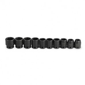 Proto® J07500-10 SAE Standard Length Impact Socket Set, 10 Pieces, 3/4 in Drive, 6 Point, Alloy Steel, Black Oxide