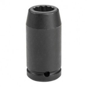 Proto® TorquePlus™ J07526MLT Metric Deep Length Impact Socket, 26 mm Socket, 3/4 in Drive, 3-1/2 in OAL, Alloy Steel