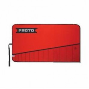 Proto® J25TR08C Tool Roll, 14 Pockets, For Use With J3100B Open End Wrench Set, Canvas/Vinyl, Red
