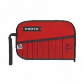 Proto® J25TR09C Tool Roll, 9 Pockets, For Use With J3200D Open End Wrench Set, Canvas/Vinyl, Red