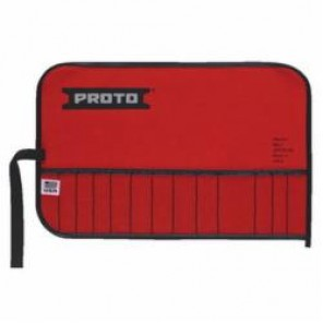 Proto® J25TR10C Tool Roll, 13 Pockets, 12 in L x 3/32 in THK, For Use With J3200C Open End Wrench Set, Canvas, Red