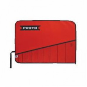 Proto® J25TR28C Tool Roll, 10 Pockets, For Use With J30000A Open End Wrench Set, Canvas/Vinyl, Red