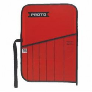 Proto® J25TR29C Tool Roll, 7 Pockets, For Use With J96AS2 Drift Punch Set, Canvas/Vinyl, Red
