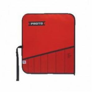 Proto® J25TR49C Tool Roll, 5 Pockets, For Use With J9500A Screw Extractor Set, Canvas/Vinyl, Red
