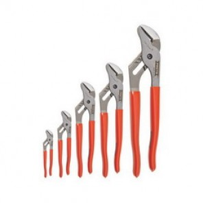 Proto® J260XLS Groove Joint Pliers Set, 5 Pieces, Steel, Red Handle