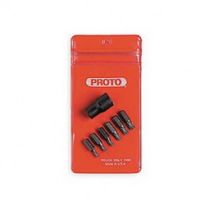 Proto® J4739P Socket Bit Set, 7 Pieces, 3/8 in Torx®