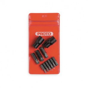 Proto® J5239P Torx Bit Set, 11 Pieces, 1/4 in, 3/8 in Drive, 1/4 in, 5/16 in Hex