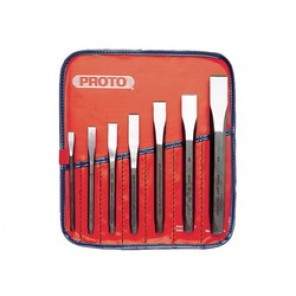 Proto® J86B Cold Chisel Set, 7 Pieces, 5/16 - 7/8 in Chisel, Hardened Steel