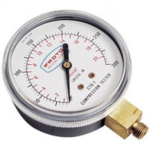 Proto® JCTG1 Compression Gauge, 3-1/2 in OAL, For Use With JCT21 and JCTR10 Compression Tester