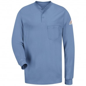 Men's Bulwark Flame-Resistant Long-Sleeve Tagless Henley Shirt