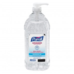 Purell® 9625 Gel Hand Sanitizer With Advanced Instant, 2 fl-oz, Clear/Light Blue