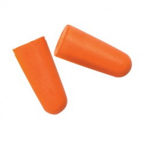 Pyramex® DP1000 Uncorded Disposable Ear Plug, Contoured, 31 dB, Orange Plug