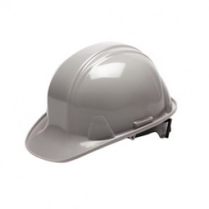 Pyramex® HP14112 Cap Style Hard Hat, 6-1/2 - 8 in, Gray, 4-Point Nylon Ratchet Suspension, High Density Polyethylene