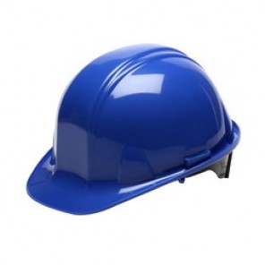 Pyramex® HP14160 Cap Style Hard Hat, 6-1/2 - 8 in, Blue, 4-Point Nylon Ratchet Suspension, High Density Polyethylene