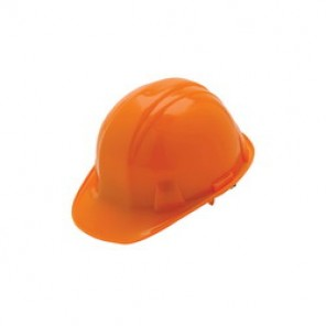 Pyramex® HP16040 Front Brim Hard Hat, 6-1/2 - 8 in, Orange, 6-Point Nylon Snap Lock Suspension, Class C, G, E
