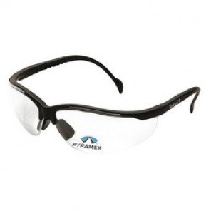 Pyramex® SB1810R30 Bi-Focal Lens Reader Protective Glasses, Universal, +3.0, Wraparound, Scratch-Resistant Clear Lens