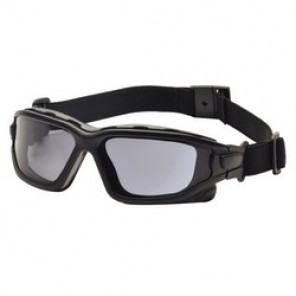 Pyramex® I-Force® Dual Pane Protective Goggles, Universal, Black Frame, Anti-Fog, Scratch-Resistant Gray Lens