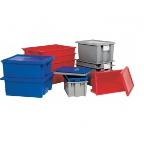 STACK & NEST TOTE LIDS, Gray, Fits Containers: HSNT180 & HSNT185, Ctn. Qty.: 6