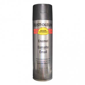 Rust-Oleum® V2177838 High Performance Rust Preventative Enamel Aerosol Spray Paint, Black, Semi-Gloss, 15 oz