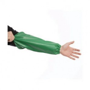 Tingley Safetyflex® S41108.LG Flame Resistant Sleeves, Universal, 18 in L, Green, PVC/Polyester, Knit Wrist Cuff