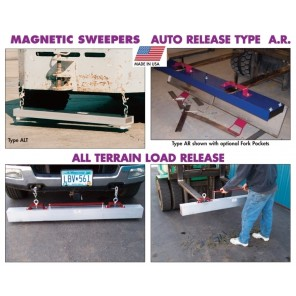 MAGNETIC SWEEPERS, All Terrain Load Release, Size L x W x H: 60 x 5 x 4""