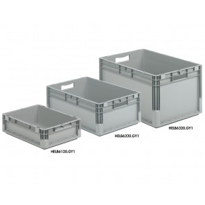 """ELB CONTAINERS, Approximate Size W x D X H: 12 x 16 x 9"""", Cap. Cu. Ft.: 0.71, w/2-piece Hinged Lid"""