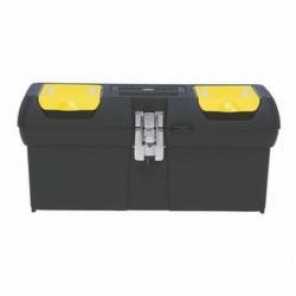 Stanley® 016013R Tool Box With Trays, 8.1 in H x 7.1 in W x 15.9 in D, Plastic