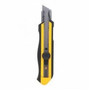 Stanley® 10-425 Utility Knife, 5-7/16 in L x 25 mm W, Ergonomic Handle, High Carbon Steel Blade