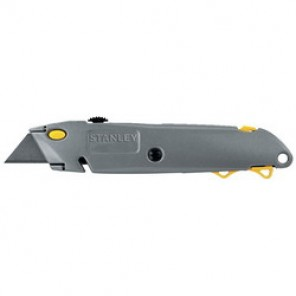 Stanley® 10-499 Utility Knife With Hang-Hole, 2-7/16 in L, 6-3/8 in OAL, Straight Handle, High Carbon Steel Blade