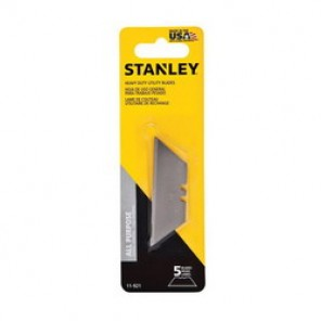 Stanley® 11-921 Heavy Duty Utility Knife Blade, 2-7/16 in, 0.024 in THK, Trapezoid, Carbon Steel