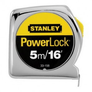 Stanley® 33-158 Tape Rule, 3/4 in W x 16 ft L Blade, Mylar® Polyester Film Coated, Imperial/Metric
