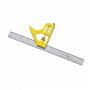 Stanley® 46-028 Combination Square, 1/16 in, 45 deg, 90 deg, 12 x 1 in Tongue, Die Cast Steel