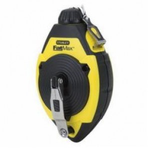 Stanley® FatMax® 47-140L Chalk Line Reel, 100 ft Line Length Polyester/Nylon Line, 4 oz Chalk, Refill Screw Cap Door