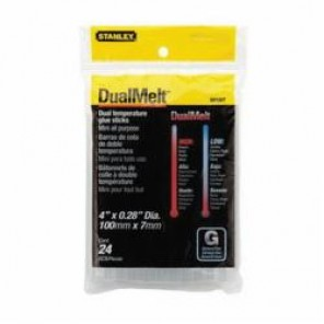 Stanley® GS10DT Dual Temp Mini Glue Stick, 1/4 in dia x 4 in L, 356 deg F, 30 - 60 sec Curing