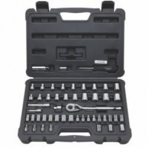 Stanley® STMT71650 Quick-Release Drive Mechanic's Tool Set, 60 Pieces, 1/4 in and 3/8 in Drive, Vanadium Steel