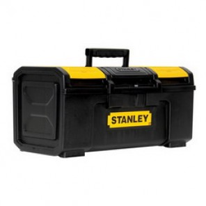 Stanley® STST19410 Basic Portable Tool Box With Removable Tray, 9 in H x 10-1/4 in W x 18-8/9 in D