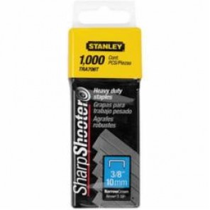 Stanley® TRA706T Heavy Duty Narrow Crown Staples, 3/8 in Leg Length, Chisel Point, 27/64 in Crown Width