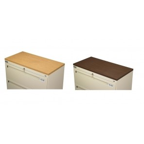 "LATERAL FILE CABINETS - ACCESSORIES, Walnut Laminate Top for 36""W File"