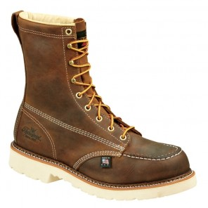 "Mens Thorogood American Heritage 8"" Moc Safety-Toe Work Boot"