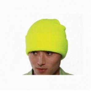 Tingley Job Sight™ H70232 Knit Hat, Universal, Fluorescent Yellow-Green, Polyester