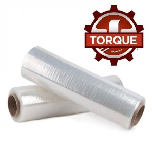 "Torque® 80 Stretch Hand Film 18"" x 1500', .43 Mil, 4 Rolls/Case"