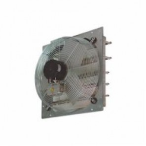 TPI CE20DS CE Series Direct Drive Standard Shutter Mounted Exhaust Fan, 20 in Dia Blade, 120 VAC, 2380/2925 cfm, 2 Speeds, 23-1/8 in W, Domestic