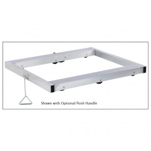 THE ALUMINUM MOVEMASTER PALLET DOLLY, Cap. (lbs.): 8000, No. of Rollers: 10, Size L x W: 36 x 36""