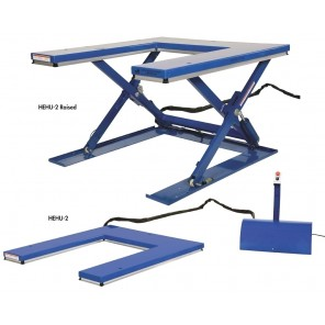 """LOW PROFILE ELECTRIC LIFT TABLES, Platform Size W x L: 52-1/2 x 55-3/4"""", Cap. (lbs.): 2000, Lowered Height: 3-1/2"""", Raised Height: 33-1/2"""""""