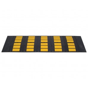 """RUBBER SPEED HUMPS, Overal Size W x L x H: 36 x 120 x 2"""", Type of Hardware Kit Included: Asphalt, Black / Yellow"""
