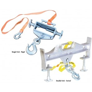 HOISTING HOOKS, Attachment: Single fork, Cap. (lbs.): 4000, Hook Type: Swivel, Usable Fork Pocket Size W x H: 6 x 2-1/4""